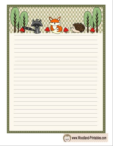 lined paper with rainforest border 17 best images about blank pages writing paper stationery