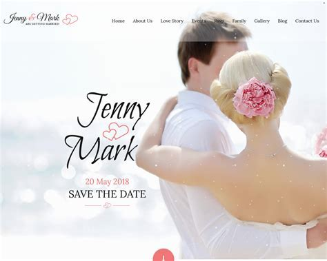 20  Best Wedding Website Templates for your Special Day