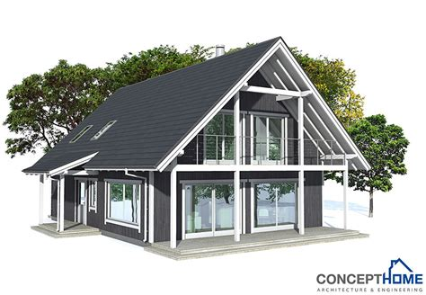 building a small house cheap small house plan ch137 in nordic architectural style