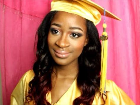 cute graduation hairstyles with cap 2014 easy graduation cap hairstyle tutorial youtube