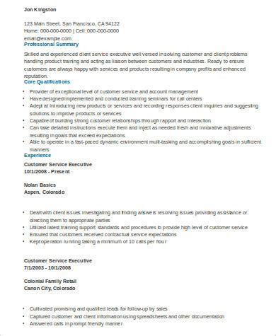 summary for customer service resume 28 images customer