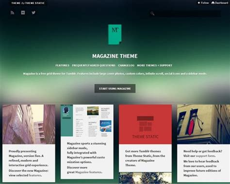 tumblr themes juggernaut 50 best free tumblr themes