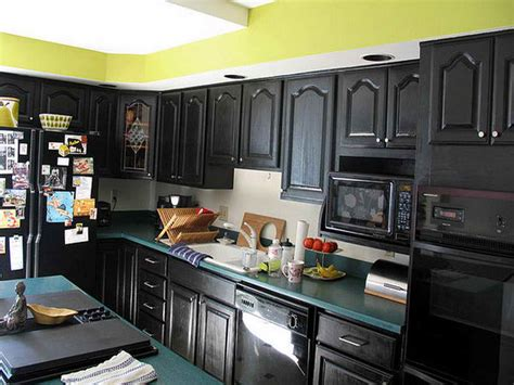 Painting Kitchen Cabinets Black by Painting Kitchen Cabinets By Yourself Designwalls