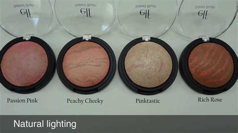 E L F Baked Blush studio baked blush swatches