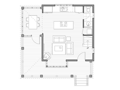 woodland cottage house plans houseplans com cottage main floor plan plan 479 10 the woodland this two bedroom