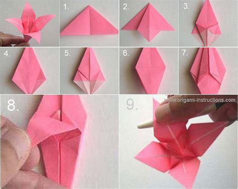 Origami Lilly - 40 origami flowers you can do and design