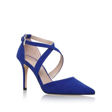 blue high sandals carvela kurt geiger high heel sandals in blue save