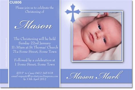 invitation card for baptism of baby boy template baptismal invitation sle for baby boy gallery