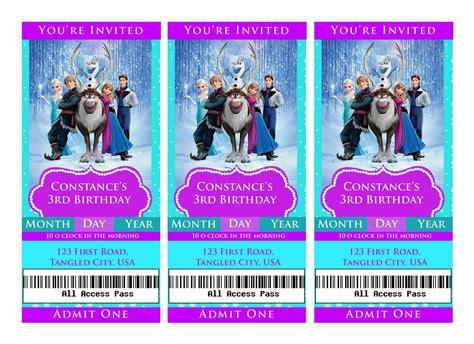 printable frozen movie ticket invitations i make i share disney frozen movie ticket invitation