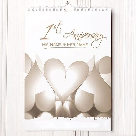 1st Wedding Anniversary Gifts   GettingPersonal.co.uk