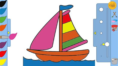 boat games pictures kids drawing game boat youtube