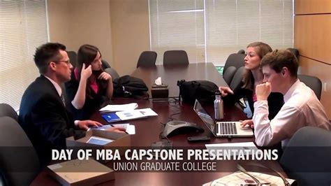 Mba Capstone Ideas by Union Graduate College Mba Capstone Project