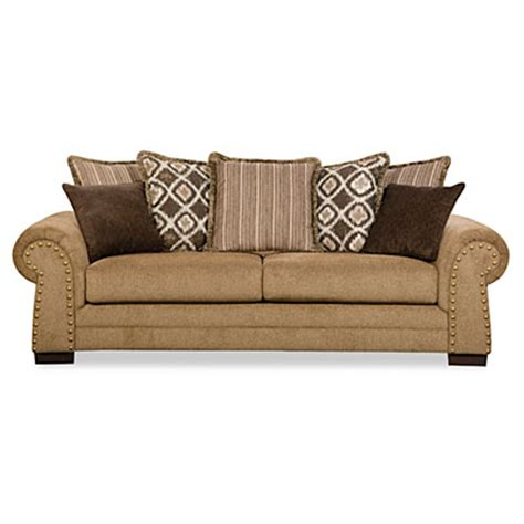 lorenzo couch simmons lorenzo teak scatter back sofa big lots