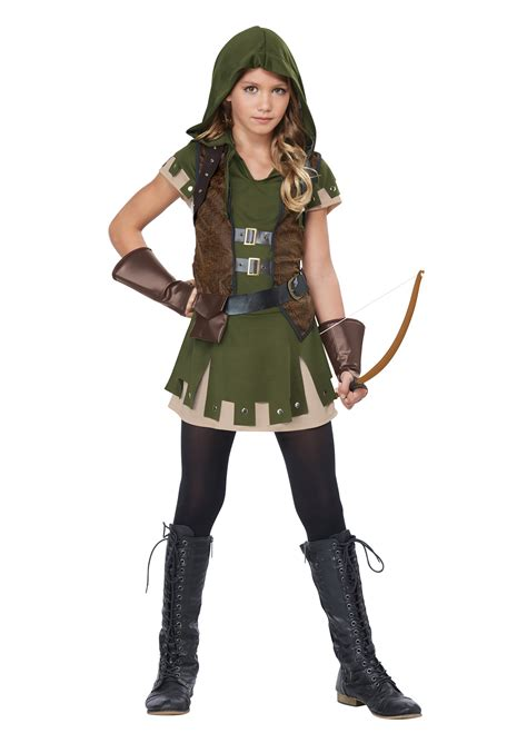 halloween costumes girl s miss robin hood costume