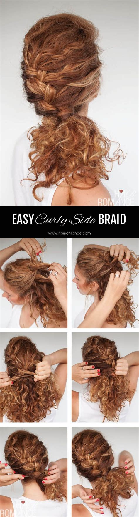 Braided Hairstyles For Curly Hair by 25 Best Ideas About Curly Hair Braids On How