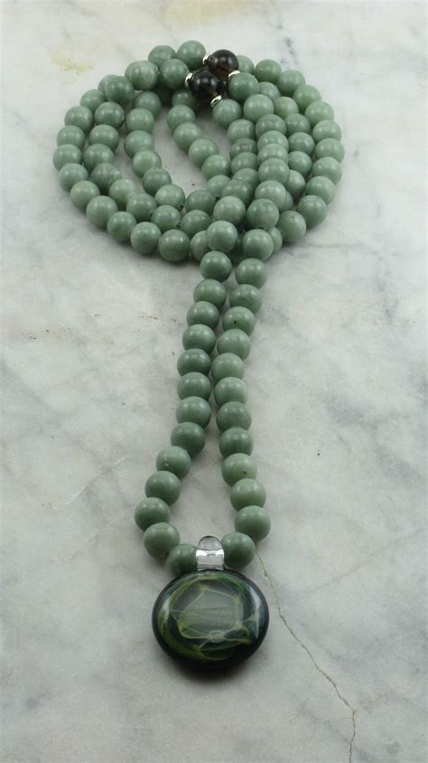108 Mala Grayed Jade Buddhist Prayer