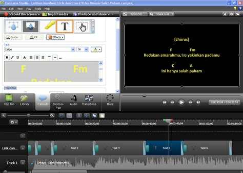 tutorial membuat video tutorial dengan camtasia tutorial praktek cara membuat video lirik dan chord