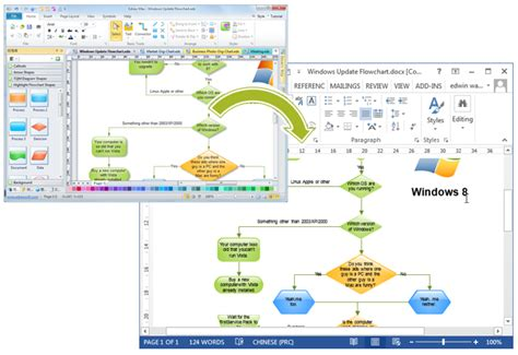 microsoft word flowchart flowcharts in word