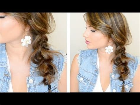 how to do a messy side braid how to do the messy side braid hairstyle step by step diy