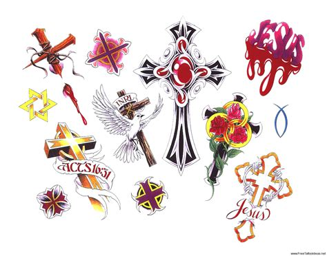 free tattoo flash art cross tattoos