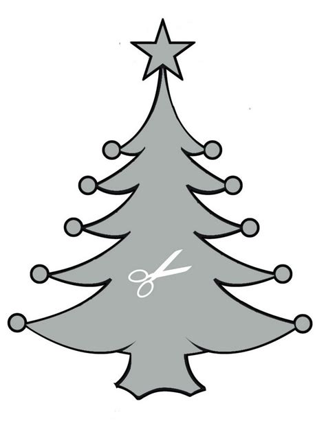 dibujo arbol de navidad para recortar images