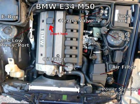 pour oil   engine bmw  motor vehicle maintenance repair stack exchange