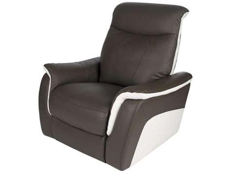 conforama canapé en cuir fauteuil relaxation en cuir evasion coloris conforama