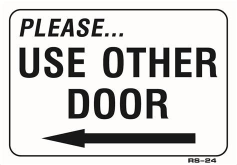 Use Other Door Sign toucandeal use other door left arrow 7 quot x10