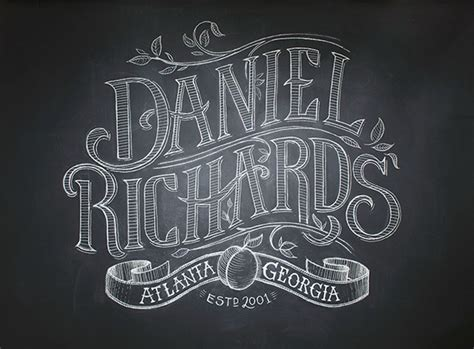 chalk lettering 101 an introduction to chalkboard lettering illustration design and more books daniel richards chalk lettering on behance