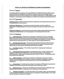 individual performance plan template performance plan templates 6 free word pdf