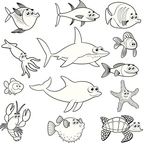 Dibujos De Peces Para Colorear Rincon Util Animal Coloring Pages Marine Animals