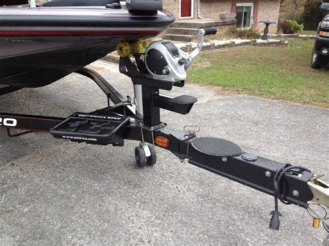 bass boat trailer step and pole z9 power pole and trailer step install