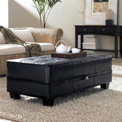 leather storage ottoman coffee table unique and creative tufted leather ottoman coffee table