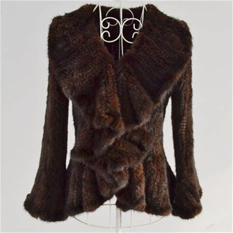 knitted mink jacket new real genuine knitted mink fur coat jacket