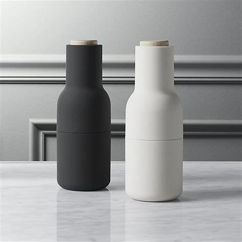 Neutral Tabletop Pieces by 2 Neutral Salt And Pepper Grinder Set Cb2