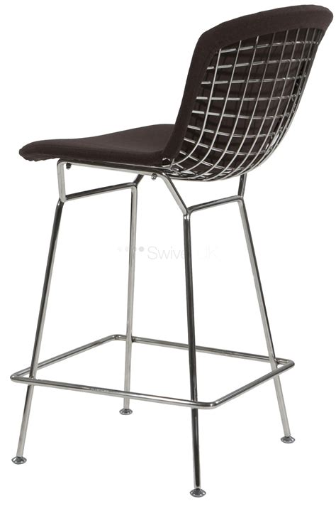 bertoia bar stool covers harry bertoia style wire barstool with cushion