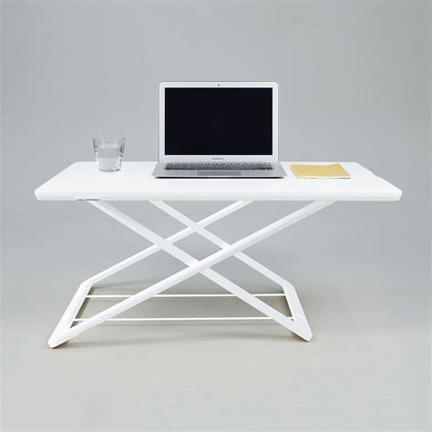 Ramcent Desk L Touch Stylish Limited freedesk desk riser white clearance home kitchen