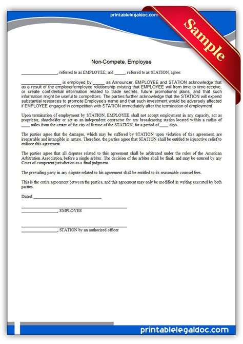 Release Letter For Non Compete Free Printable Testimonial Consent And Release Form Generic