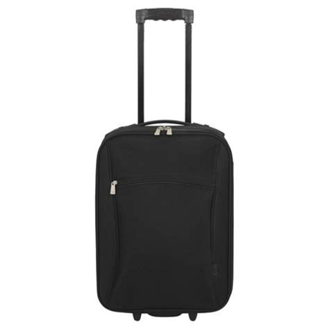 cheap wheeled cabin luggage buy tesco 2 wheel small black suitcase from our