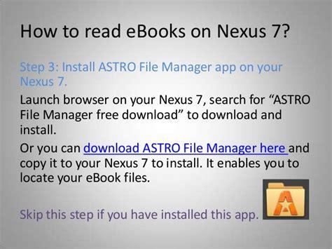 ebook format nexus 7 how to read amazon ebooks on nexus 7 tektube