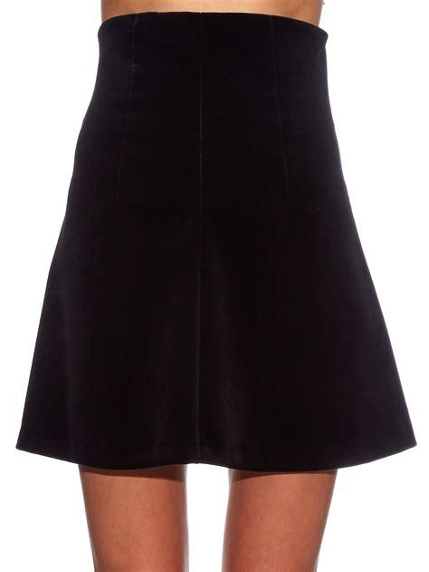 Velvet Skort valentino a line velvet skirt in black lyst