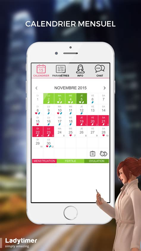 Calendrier D Ovulation Calendrier D Ovulation Gratuit Pour Android Ladytimer