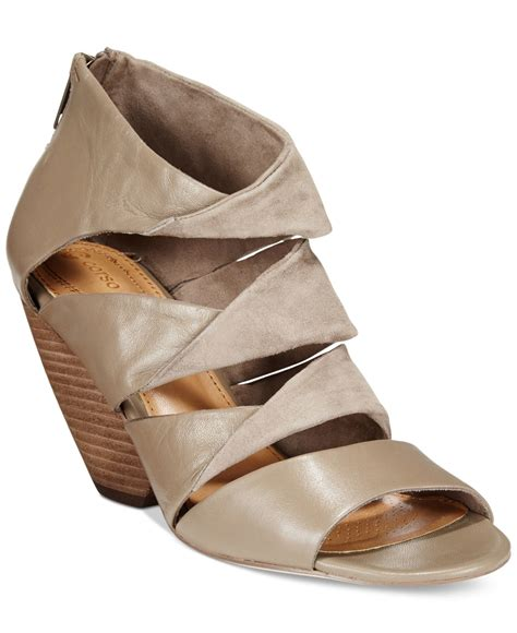 corso como wedge sandals in gray taupe lyst