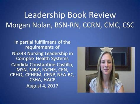 Rn Bsn Msn And Mba by Bookreviewcvideo Authorstream
