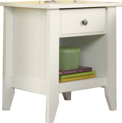 Sauder Shoal Creek Nightstand by Sauder Shoal Creek White Nightstand Homemakers Furniture
