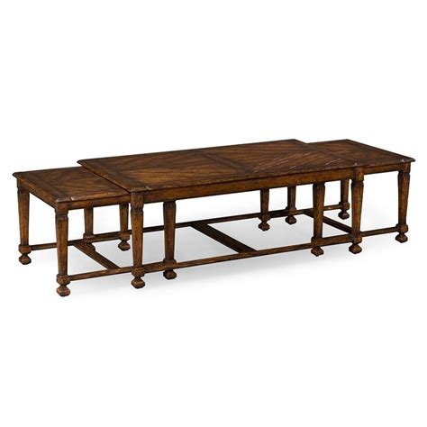 Rustic Walnut Coffee Table Jonathan Charles 493475 Country Farmhouse Rustic Walnut Nesting Coffee Table Discount Furniture
