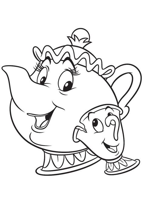 beauty and the beast characters coloring pages siudynet print coloring image coloriage coloriage disney et la b 234 te