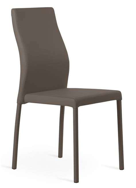 chair in metal and eco leather comfortable and relaxing