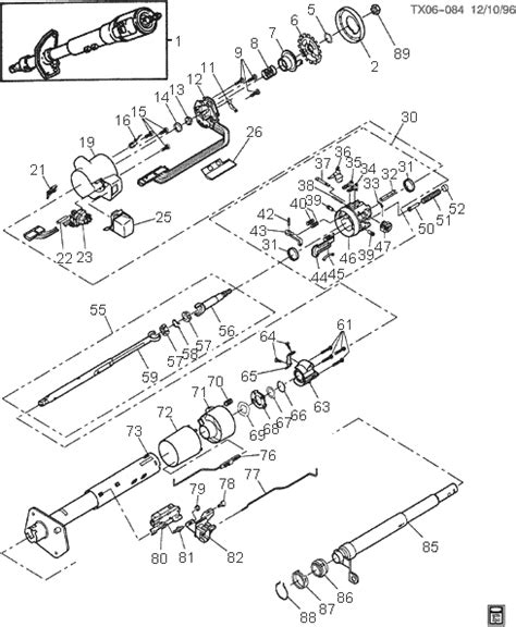 gm steering column wiring diagram 1980 gm steering column