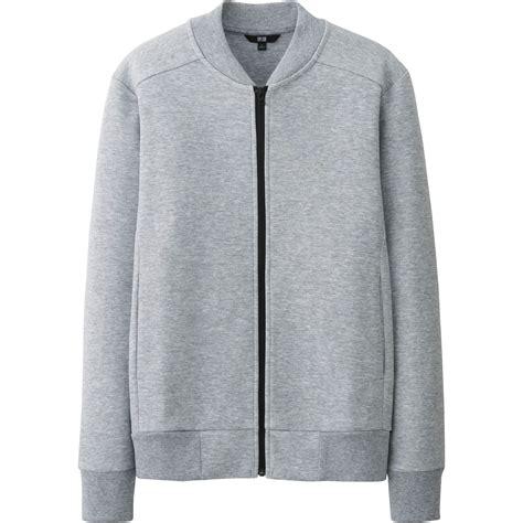 Uniqlo Mens Sweatpants Grey Original uniqlo stretch sweat zip jacket in gray for lyst